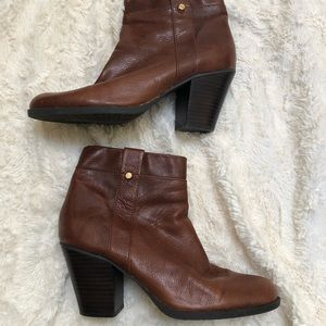Bandolino Brown Leather Ankle Booties-  9M